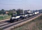 Richmond, Fredricksburg & Potomac Electro-Motive Division GP-40 147 rolls south out of Pot yard