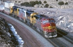 Atchison, Topeka & Santa Fe Electro-Motive Division  GP-60M 159 leads three other 4 axle speedsters