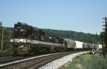Wheeling & Lake Erie Electro-Motive GP-35 2671 leads a short grain train