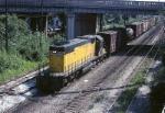 Chicago Northwestern EMD SD-38-2 6657 handles a transfer freight