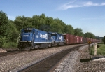 Auto parts rule on TOPI (Toledo-Pittsburgh) as Conrail GE B-36-7 5053 roars by