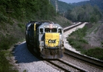 CSX EMD GP-40-2 6441 heads a lite engine move west
