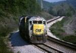 CSX EMD GP-40-2 6441 heads a lite engine move west