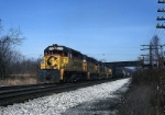 CSX EMD SD-40-2 8434 is pumping air
