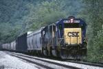 CSX EMD SD-50 8576 rollls mixed freight thru the Cumberland Gap