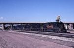 A Denver & Rio Grande Western light engine move thru Union Station led by EMD GP-40 3111