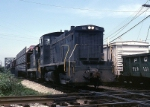 Indiana Harbor Belt EMD SW-1500 9211 rolls transfer traffic across the diamond