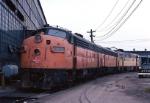 MIlwaukee Road EMD FP-7A 104C and company