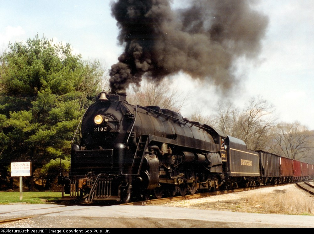 Blue Mountain & Reading's ex Reading T-1 #2102