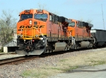 BNSF 5765 leads off from UP Cheerokee sub onto UP Coffeyville sub to go back north