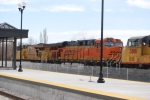 BNSF 7518 is the second unit on a double Stack train with UP 3881 right behind it