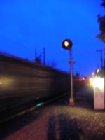 Signal D-692 at dawn