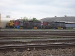 PNWR 2312 with a couple of SD9's in the yard