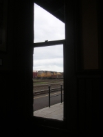 A view through a station window