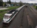 AMTK 467 pushes train 504