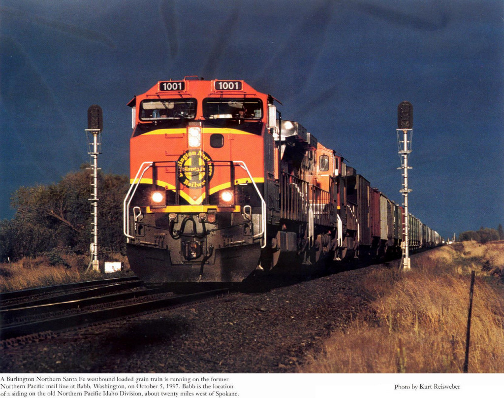 BNSF GE CW44-9's 1001, 1014 and 1026