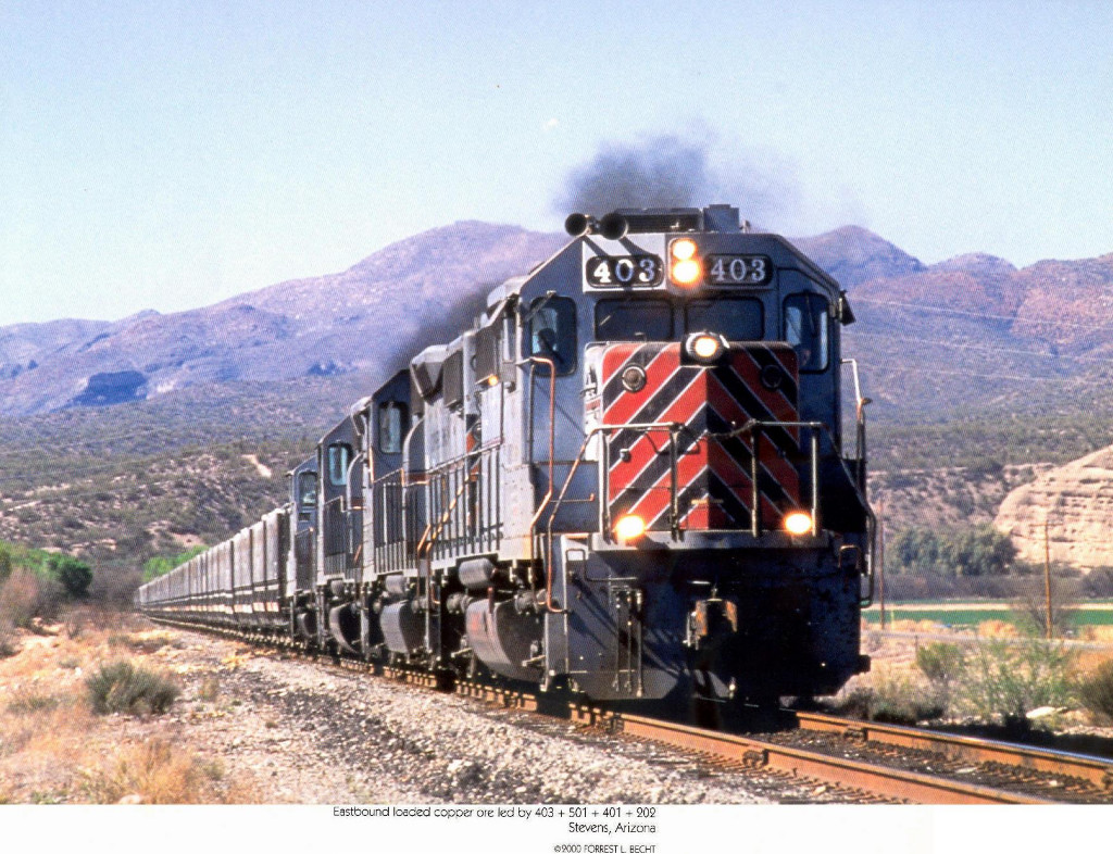 Copper Basin Railroad GM/EMD GP-2-2s 403 and 501, GM/EMD GP39 403 and GM/EMD GP18 202