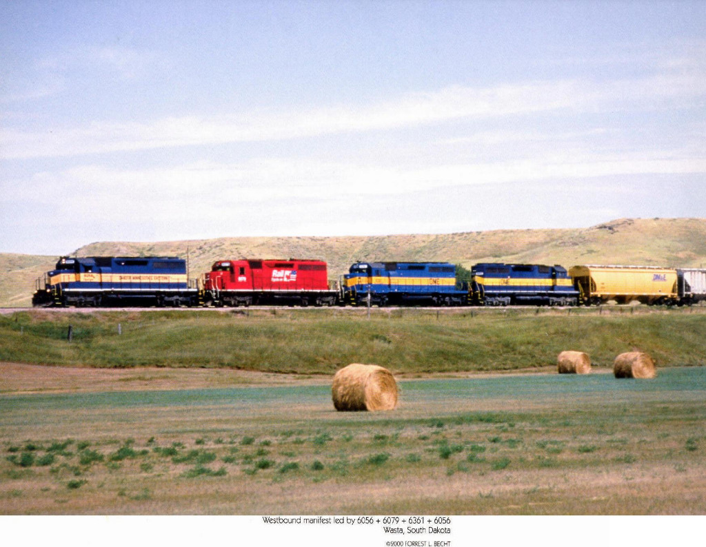 Dakota, Minisota and Eastern Railroad GM/EMD SD40-2's 6056 and 6361 and CP Rail Systems GM/EMD SD40-2 6079