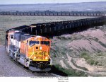 BNSF GM/EMD SD70MAC 8906 and 8819 and BN/BNSF GM/EMD SD70MAC 9700