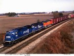 Conrail GM/EMD SD40-2 6447 and SD60I 5642 and BNSF GM/EMD SD70MAC 9969