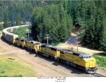 UP GE CW40-8 9389 and GE C40-8 9251 and UP GM/EMD SD60s 6083 and 6008