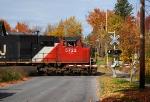 Q621-14 rolls north through Harrison Street with CN power