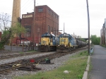 NYS&W crews switch the yard with leased CSX diesels