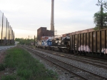 Three leased units head a northbound NYS&W freight