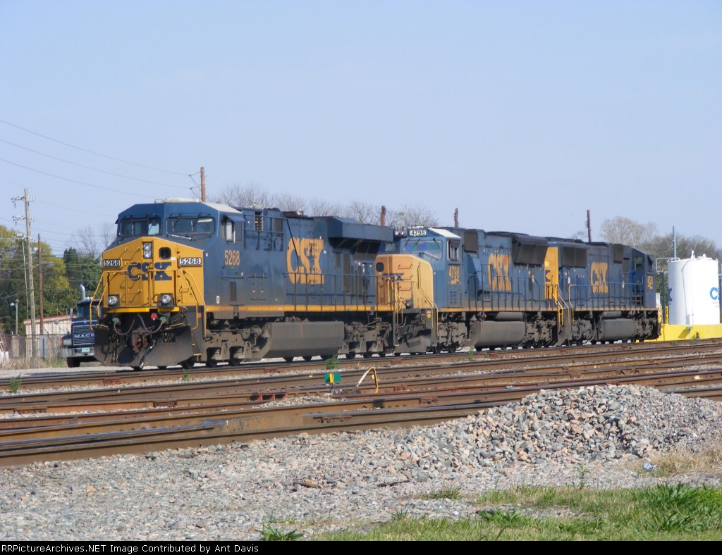 CSX 5268, 4798, & 4531 sit on the Engine Track