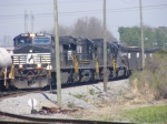 NS 8954 leads a loaded coal train through Nixon Yard