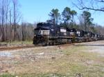 A coal train highballs South to Savannah