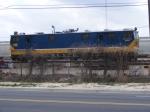 CSX Geometery Car sits in Augusta Yard