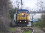 CSX 7814 arrives into Augusta on a Gloomy Day