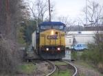 CSX 7814 arrives into Augusta on a Gloomy Day