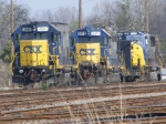 CSX 1539, 6010, & 8760 sit on the Engine Track