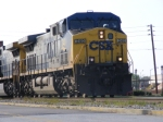 CSX 240 leads a train into Augusta