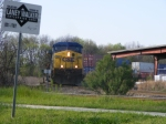 Q197 waits for CSX 6810 to clear the track into the yard
