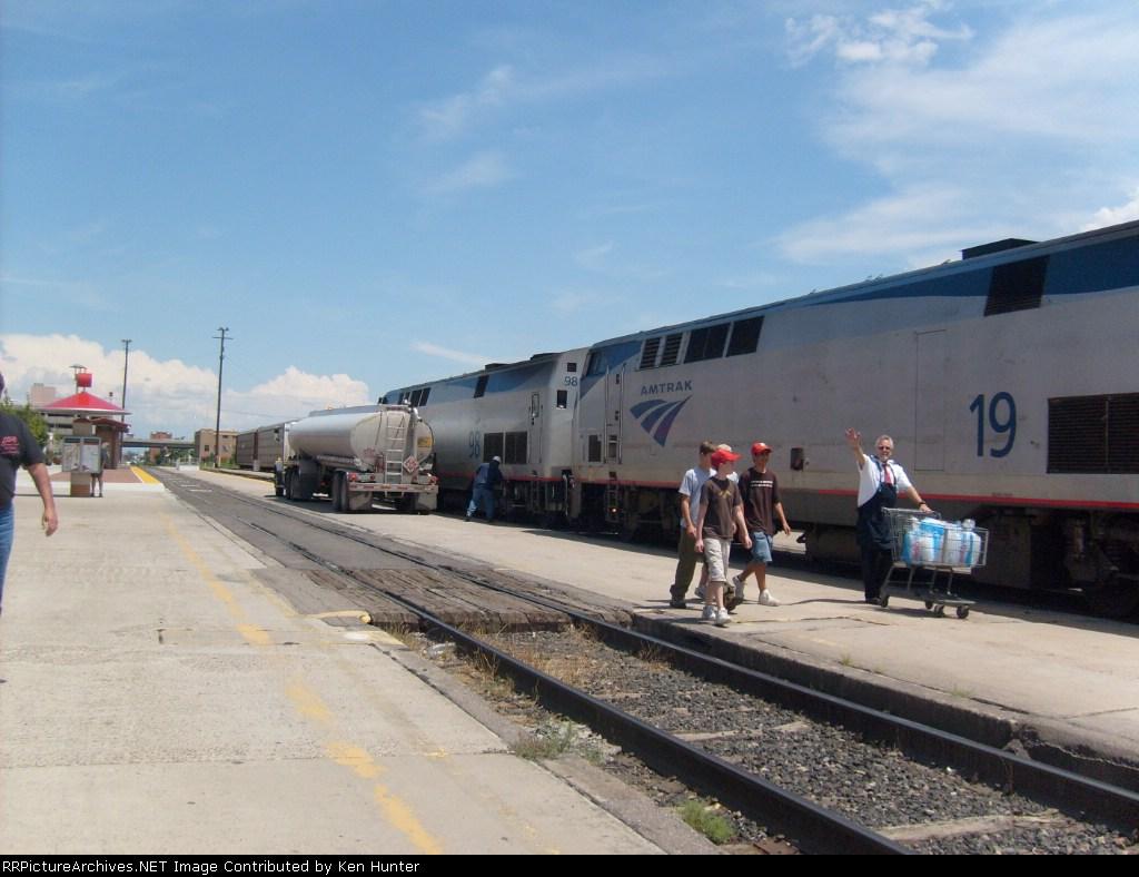 Amtrak #98 and #19