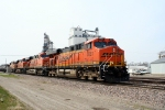 BNSF 5881 with the Tulsa to Lincoln Neb. manifest ready to switch over to the Afton sub to Ft. Scott Kan.