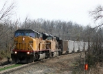 UP 8210 leading empty coal train north