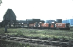 CP 8152, 8145, 8144, with TH&B 57, 75, 77 and another.