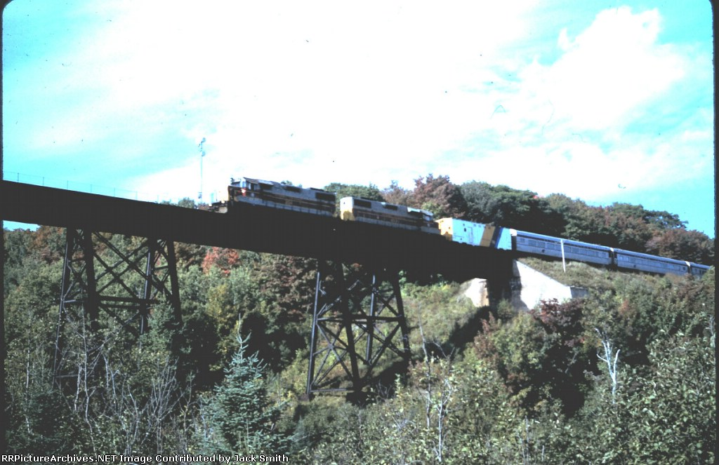 AC 204 & 203 on the Bellvue Trestle