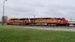 BNSF 5867, 8466, & GTW 4916