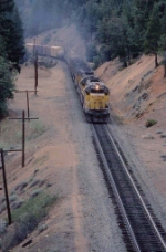 1354-04 Eastbound(?) UP freight at WP Williams Loop