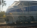 Amtrak #458 coming into Fullerton quickly
