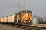 UP 6820 leads a WB UCEX drag past 60th rd @ 18:11