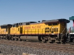 UP 9621 #3 power in an EB manifest (QWCEW - West Colton - Englewood) in switching activity at 4:25pm
