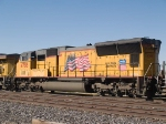 UP 4788 #4 power in an EB manifest (QWCEW - West Colton - Englewood) in switching activity at 4:25pm