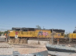 UP 3852 leads a WB manifest out of Alfalfa yard at 4:00pm