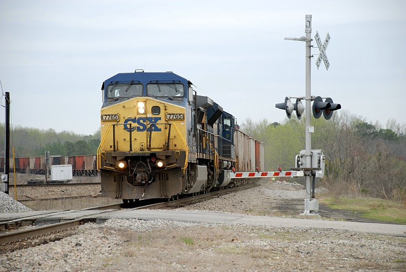 finally a rock train comes of the wilmington sub with VULX cars